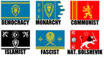 Alternate Flags of the Alliance (Warcraft) by wolfmoon25