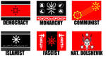 Alternate Flags of the Forces of Chaos by wolfmoon25