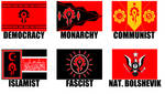 Alternate Flags of the Horde (Warcraft) by wolfmoon25
