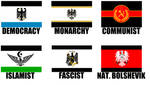 Alternate Flags of Prussia by wolfmoon25