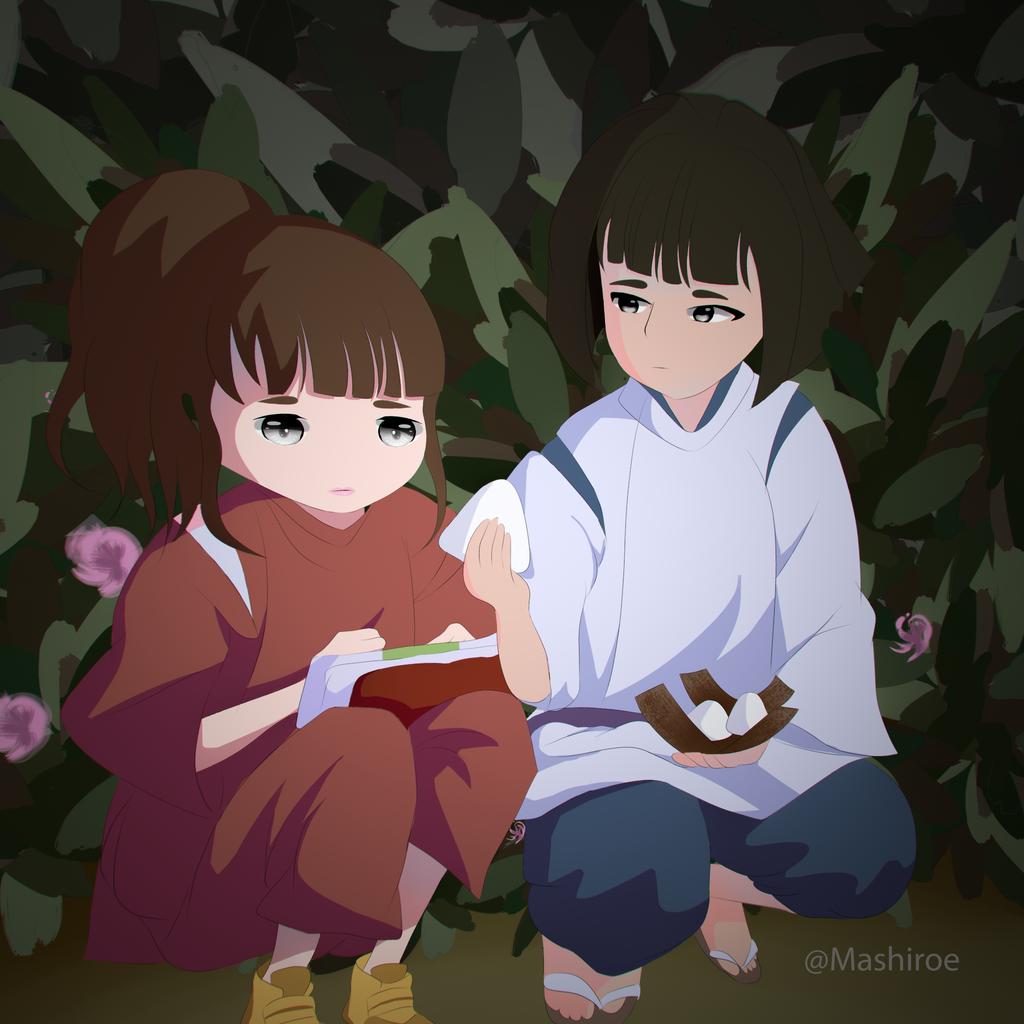 Spirited Away Haku And Chihiro By Mashiroe On Deviantart