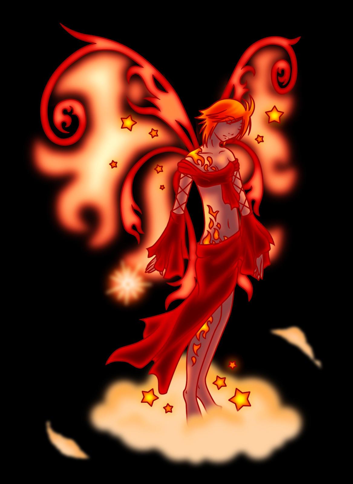 Fire Fairy by sheenaduquette on DeviantArt
