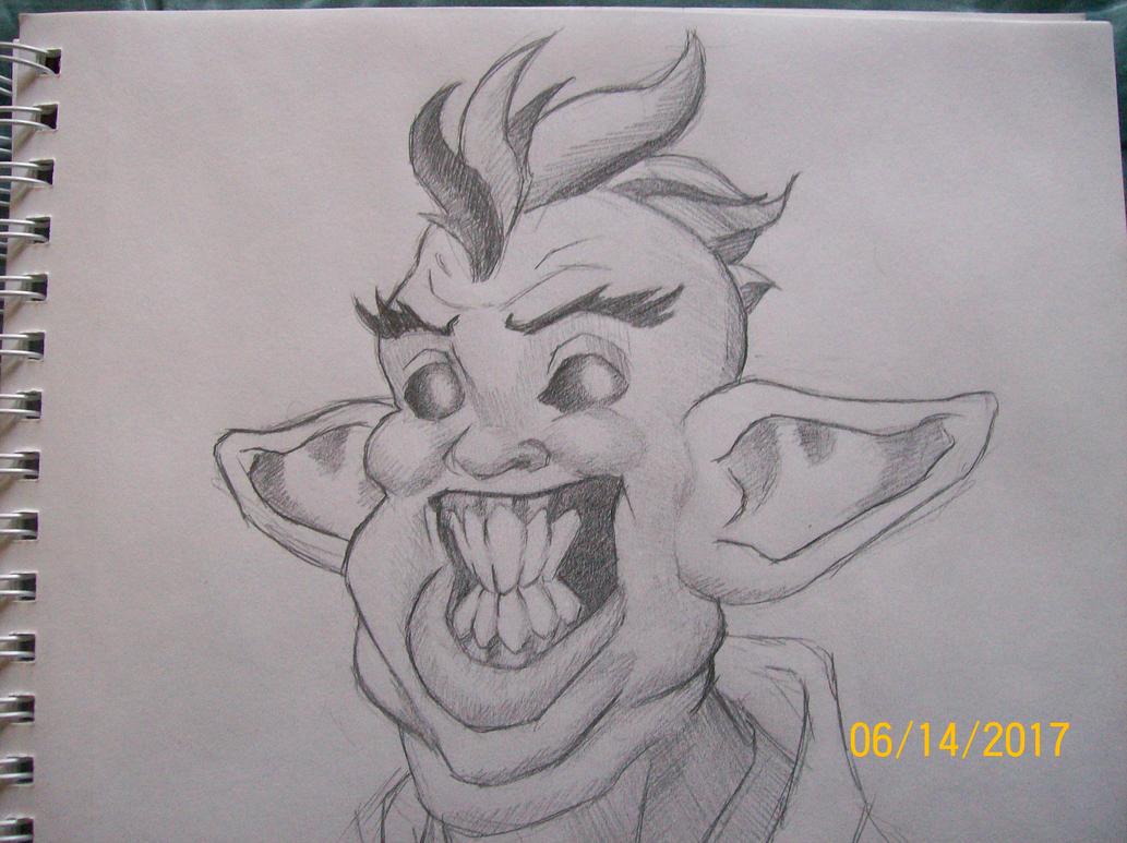 Goblin concept doodle by zachgolden1999