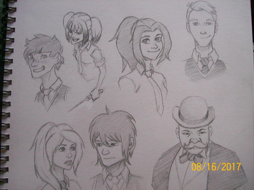 oc group sketch by zachgolden1999