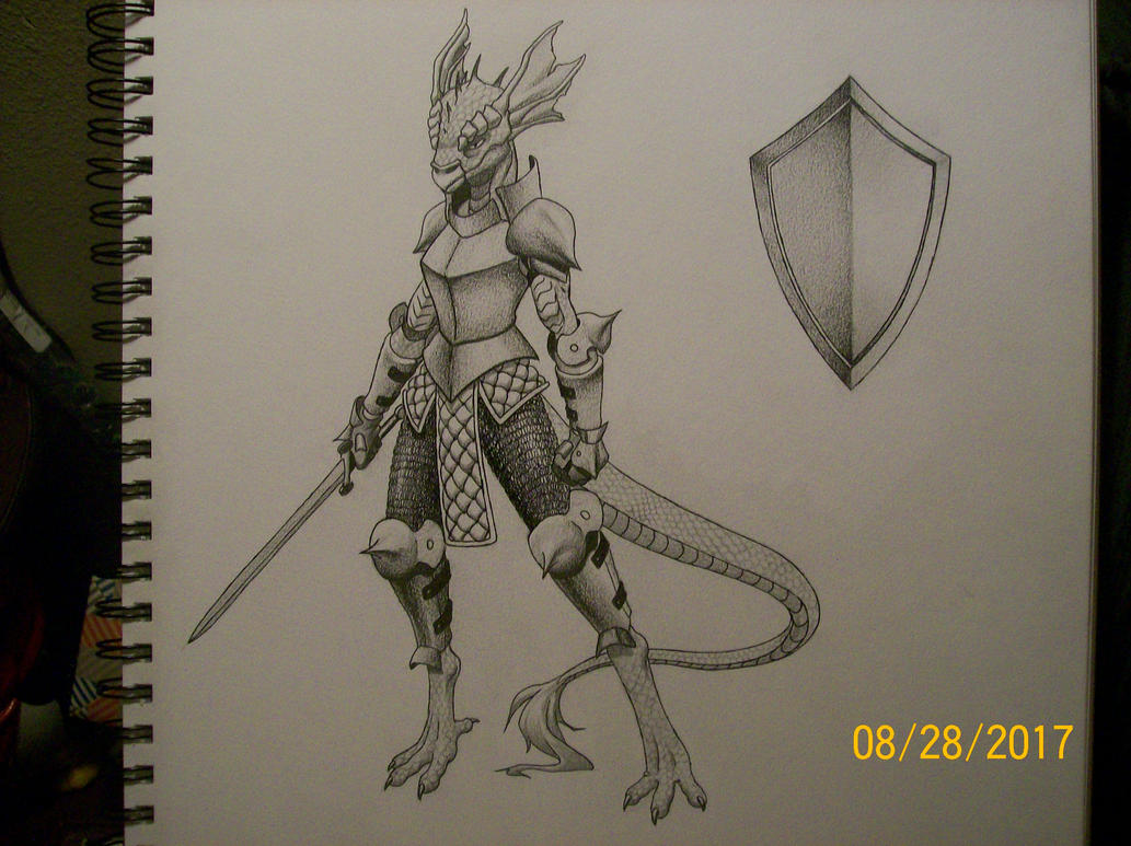 DnD character: Savra the dragon born knight by zachgolden1999