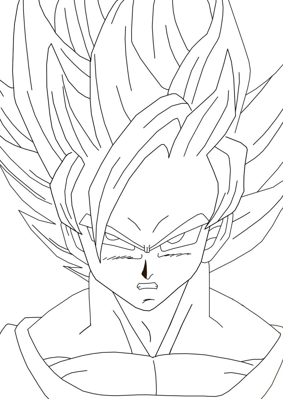 Goku Super Saiyan 2 by luffy12356 on DeviantArt