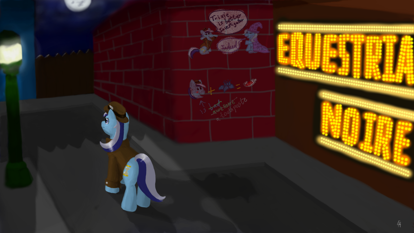 Equestria Noire at Night by tato-11