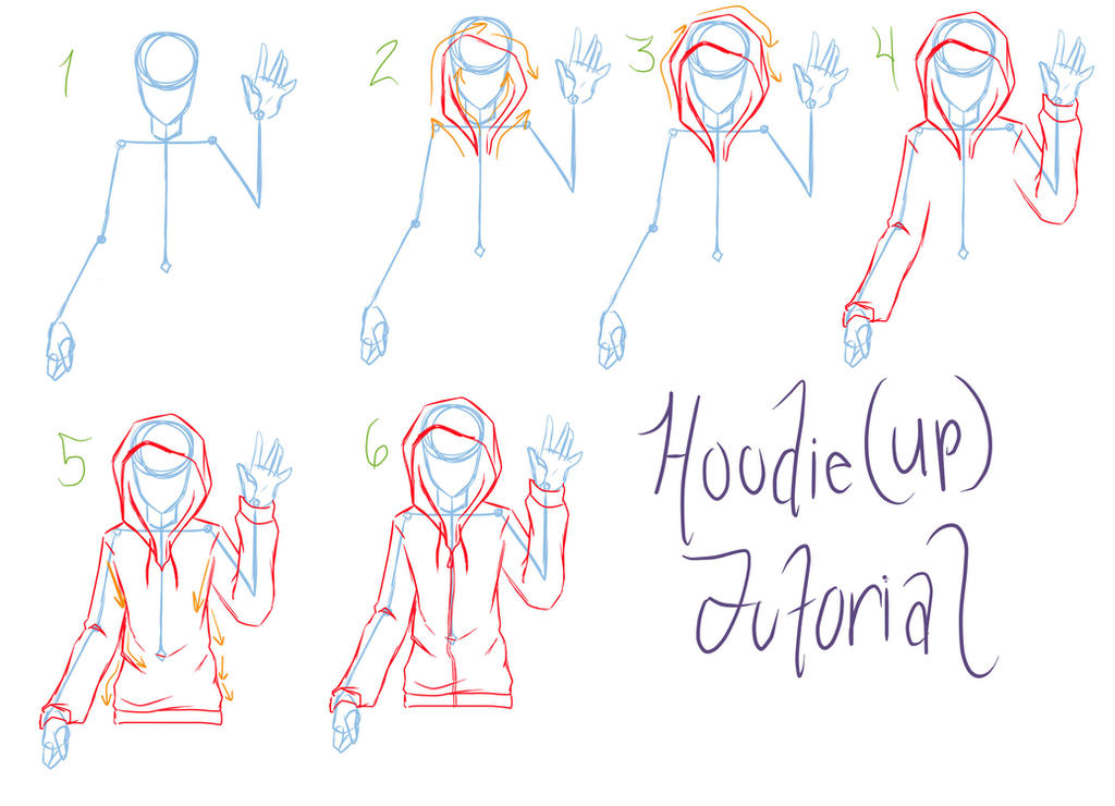 Hoodie Tutorial Requested by ReiGodricHow To Draw Anime Girl With Hoodie