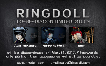 Ringdoll Ronald,Wolf and Nair will be discontinued by Ringdoll