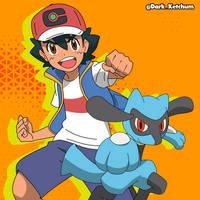 Ash y Riolu