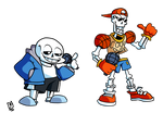 [Undertale X Friday Night Funkin'] Sans and Papy
