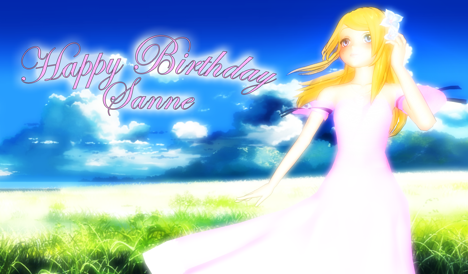 !~Happy b-day Sanne~! by KingdomHeartsNickey