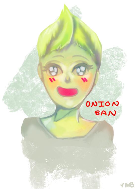 Onion-san Human by MonochromeBIT