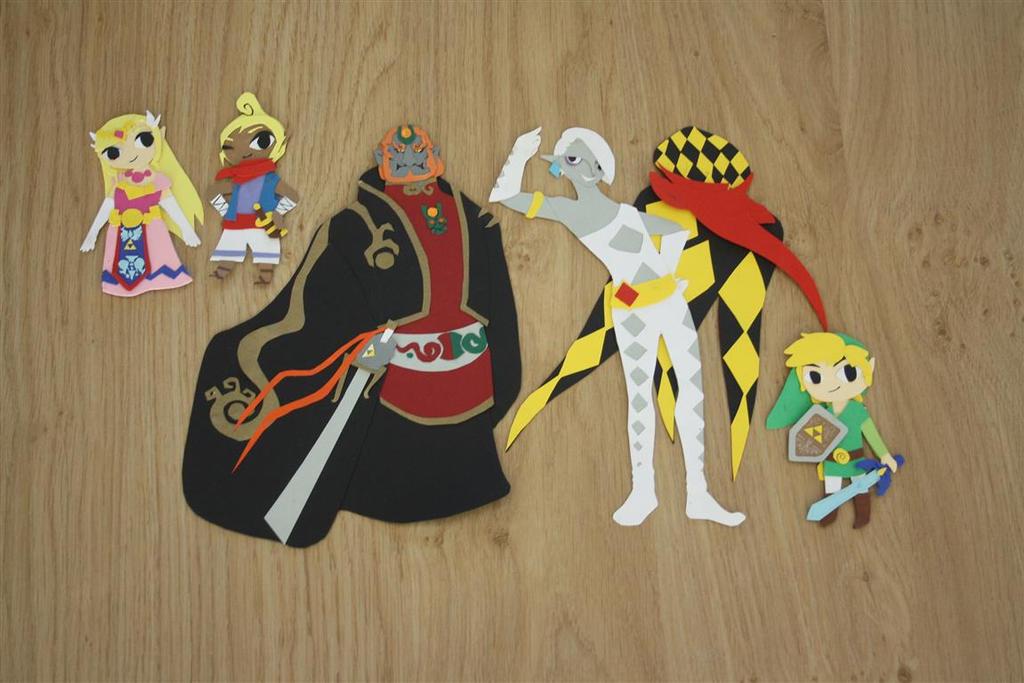 papercraft legend of zelda by cutiepei mei