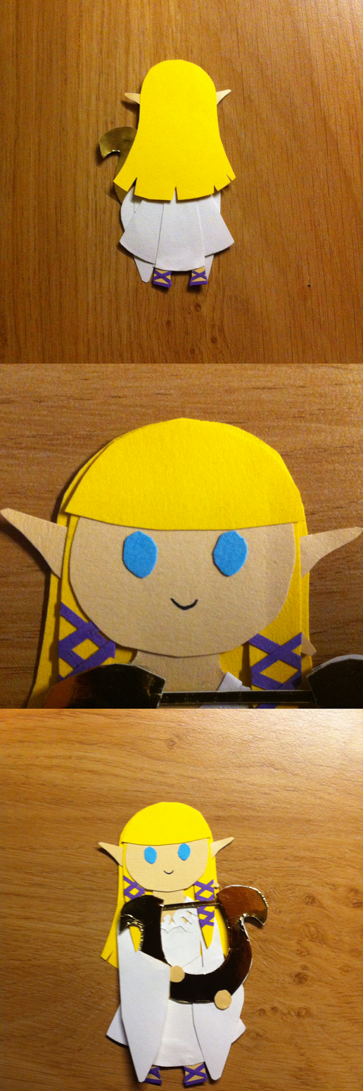 SS Papercraft Chibi Zelda by CutiePei-Mei