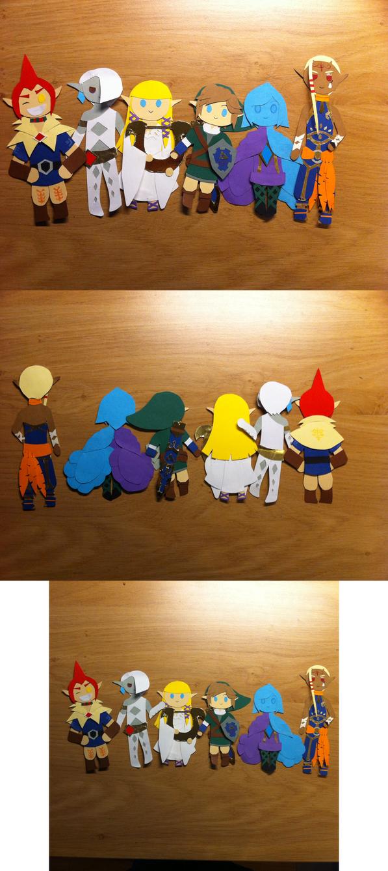 SS Papaercraft Chibi's by CutiePei-Mei