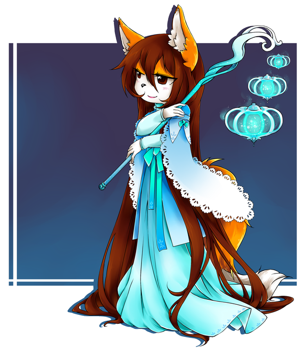Foxy winter Fox by YelowFOX