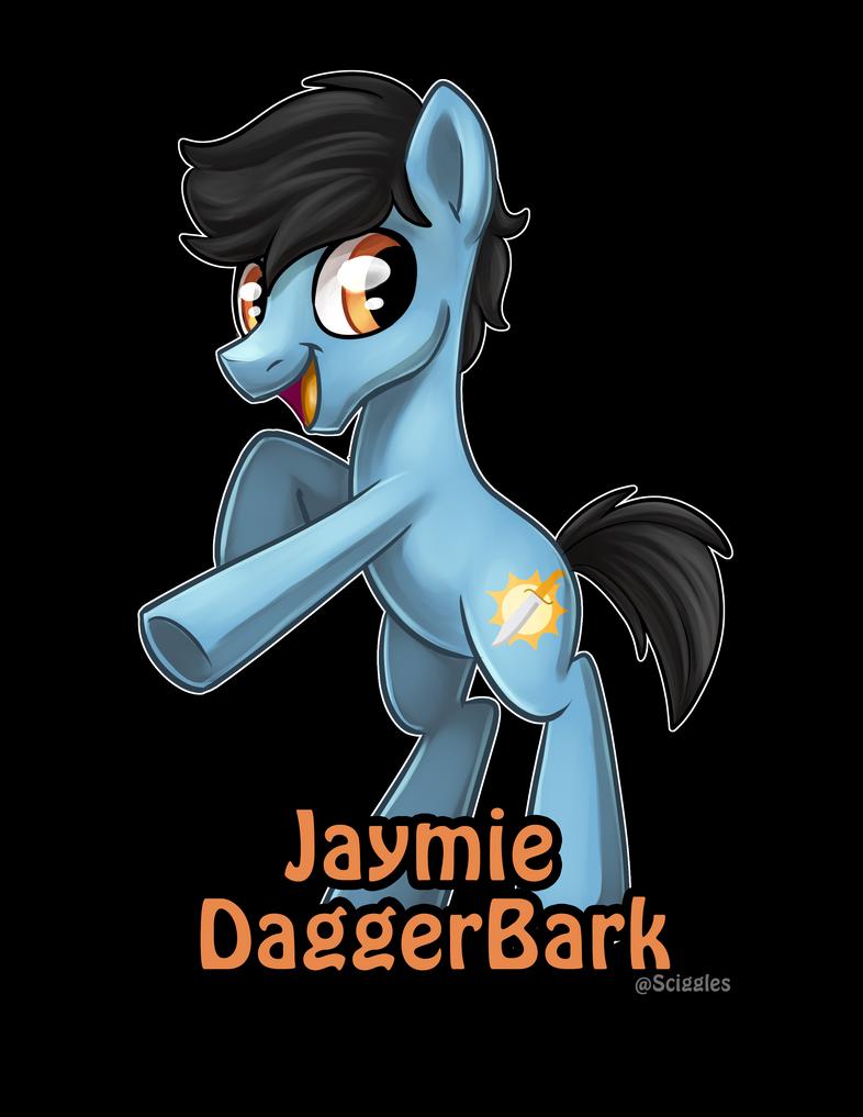 Jaymie DaggerBark OC Badge by DaggerBark