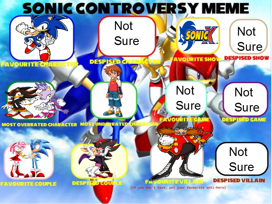 Sonic Controversy Meme by DaggerBark