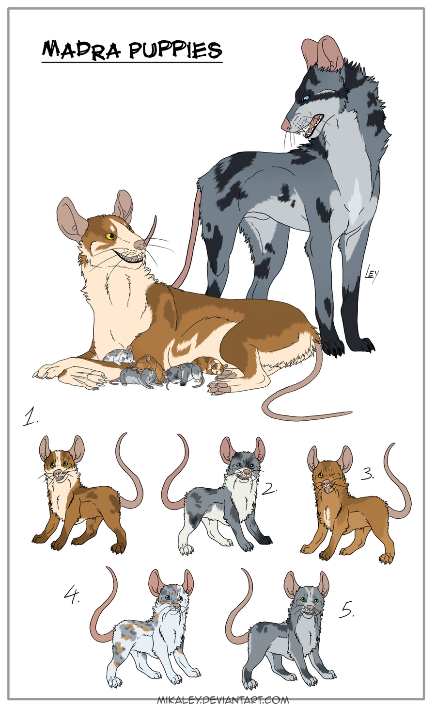 Madra litter - Closed Winners by *Mikaley on deviantART