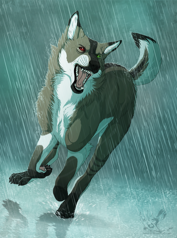 Commission - Deluge by Mikaley