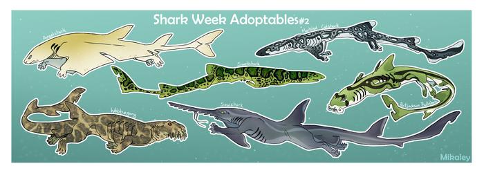Shark Week Adoptables #2  OPEN
