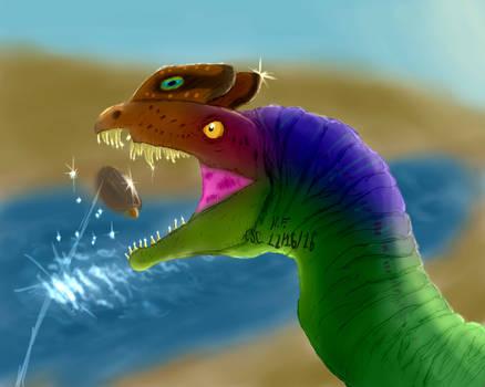 Dilophosaurus wetherilli~