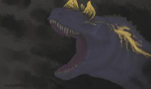 Ceratosaurus portrait rough sketch