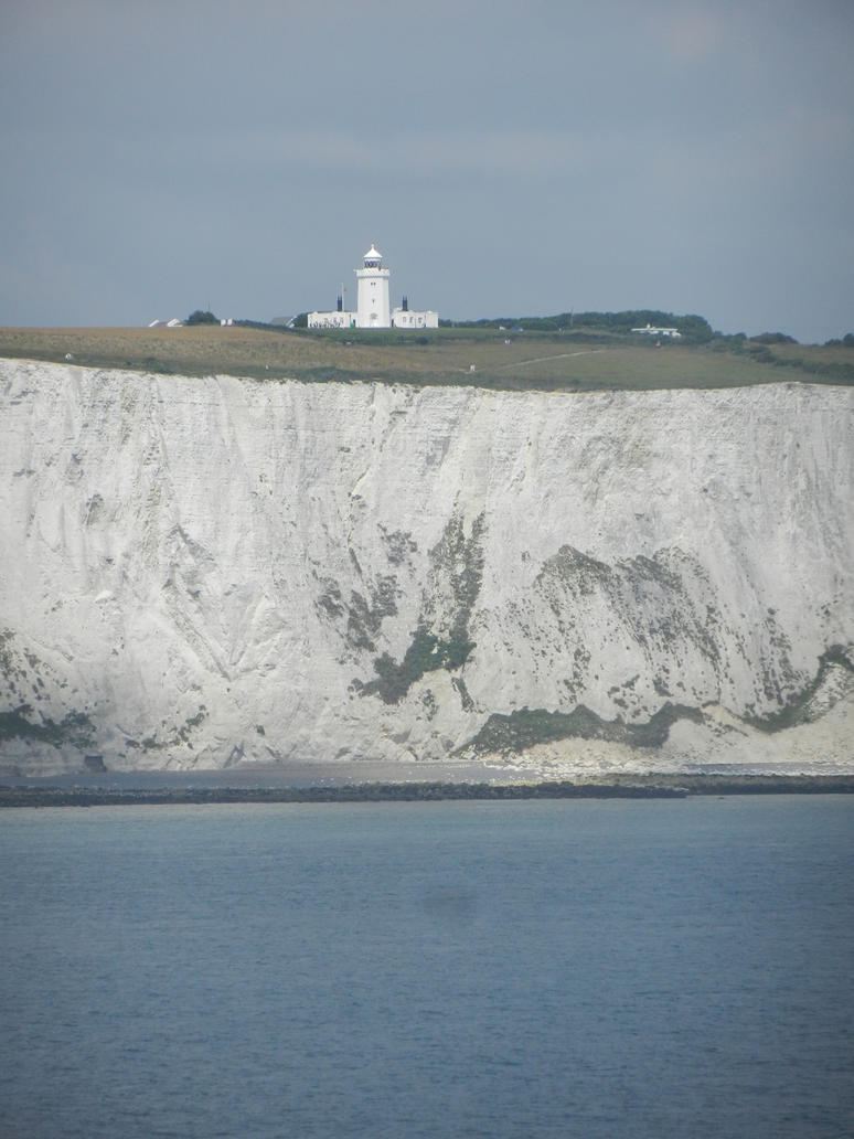 Lighthouse at the Cliffs of Dover by Eszies-Eszie