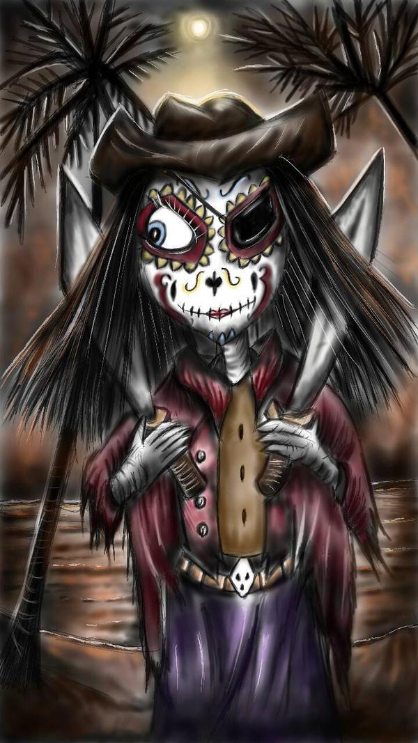 Day Of The Dead Bucaneer Princess by Amberwarrior