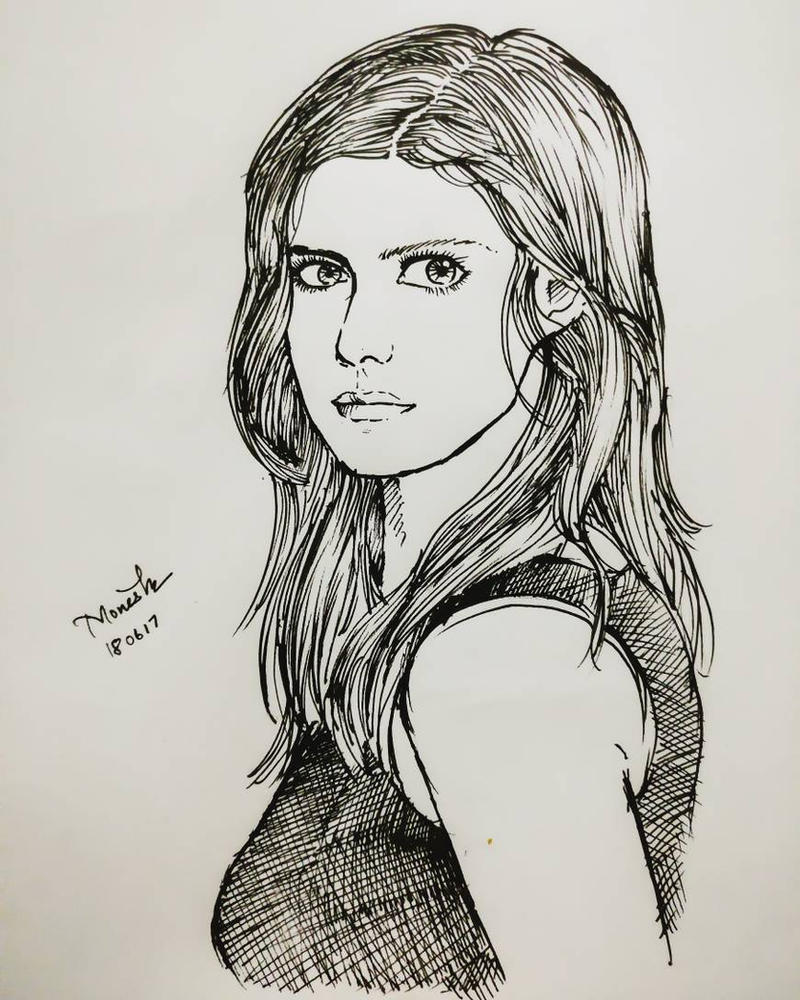 Alexandra Daddario by Monesh98
