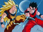 Goku ssj3 vs Gohan definitivo!