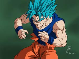 Goku ssj Blue full power!! (Version manga)