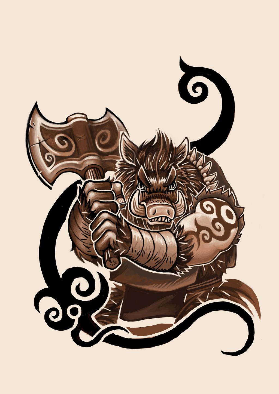 Boar Tattoo design by ... Greek Mythology Tattoos Designs