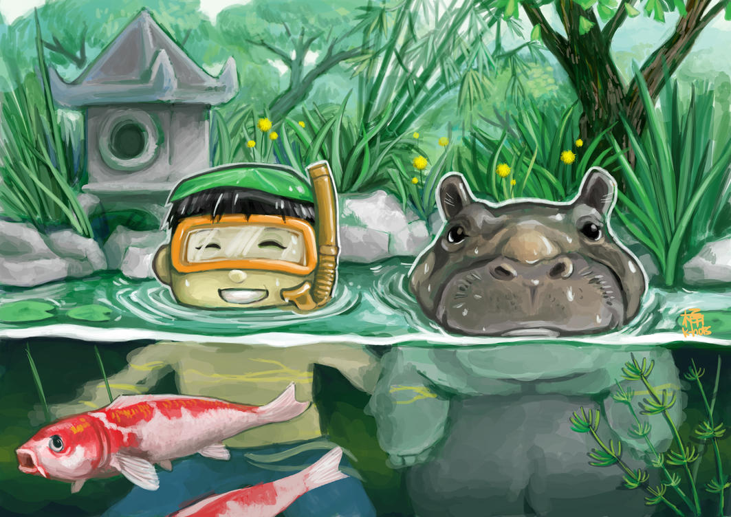 Japanese Koi Pond By K Hots On Deviantart