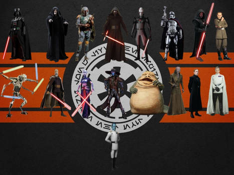 Star Wars Villains by benkhmatheson