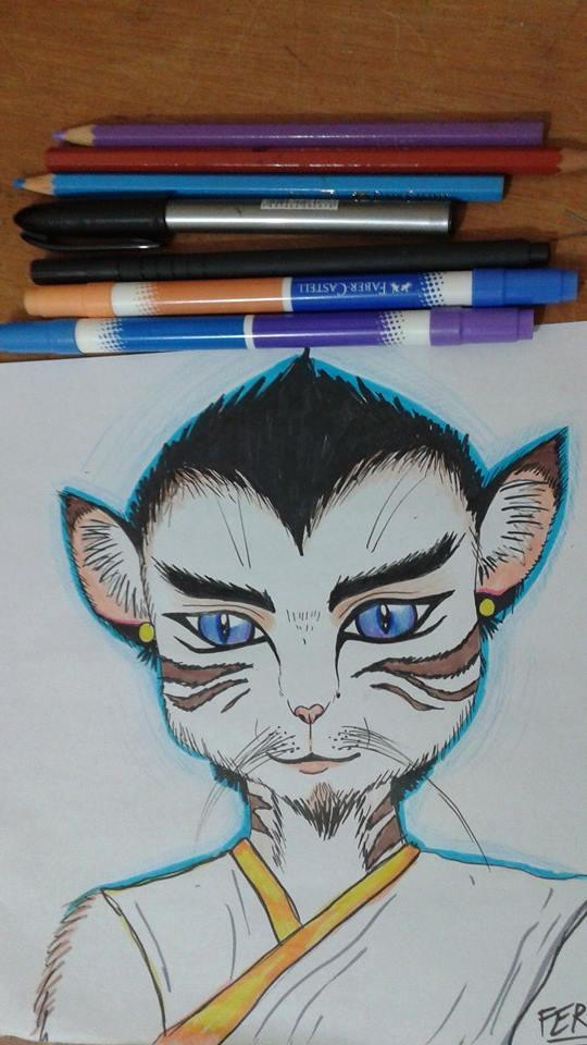 Feline monk by LuarSoulwolf