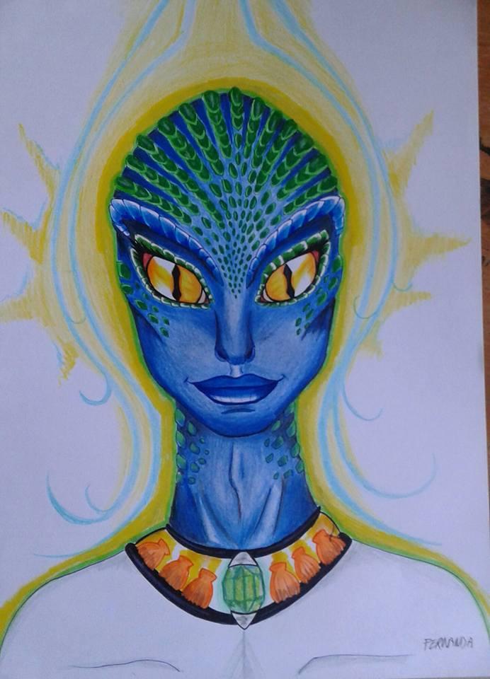 Alien reptilian Sirius b, by LuarSoulwolf