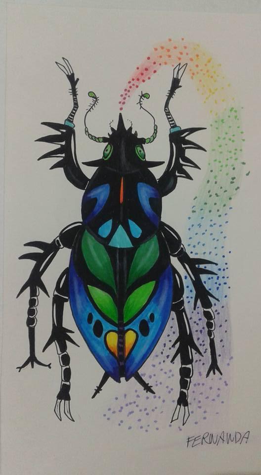 Escaravelho do arco iris by LuarSoulwolf
