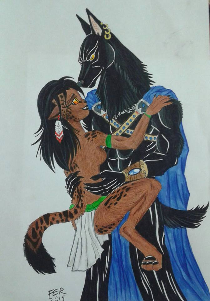 Anubis i love you by LuarSoulwolf