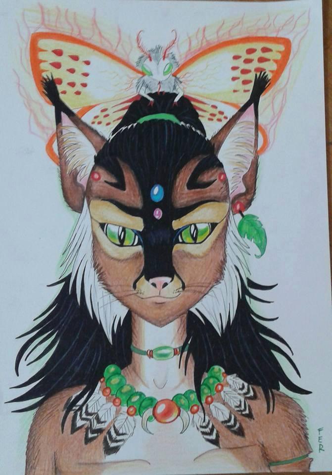 Elemental feline by LuarSoulwolf