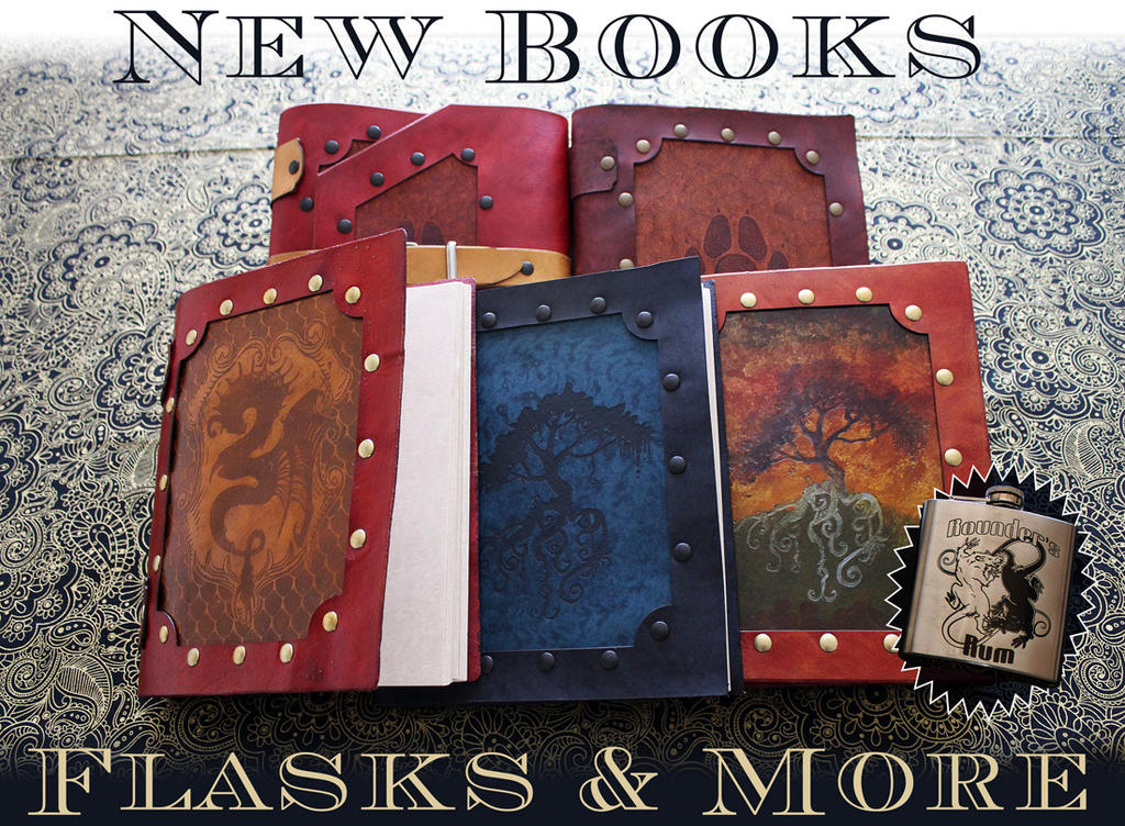 Syndactyl Arts Books and Flasks Available by ChaoseVIIn