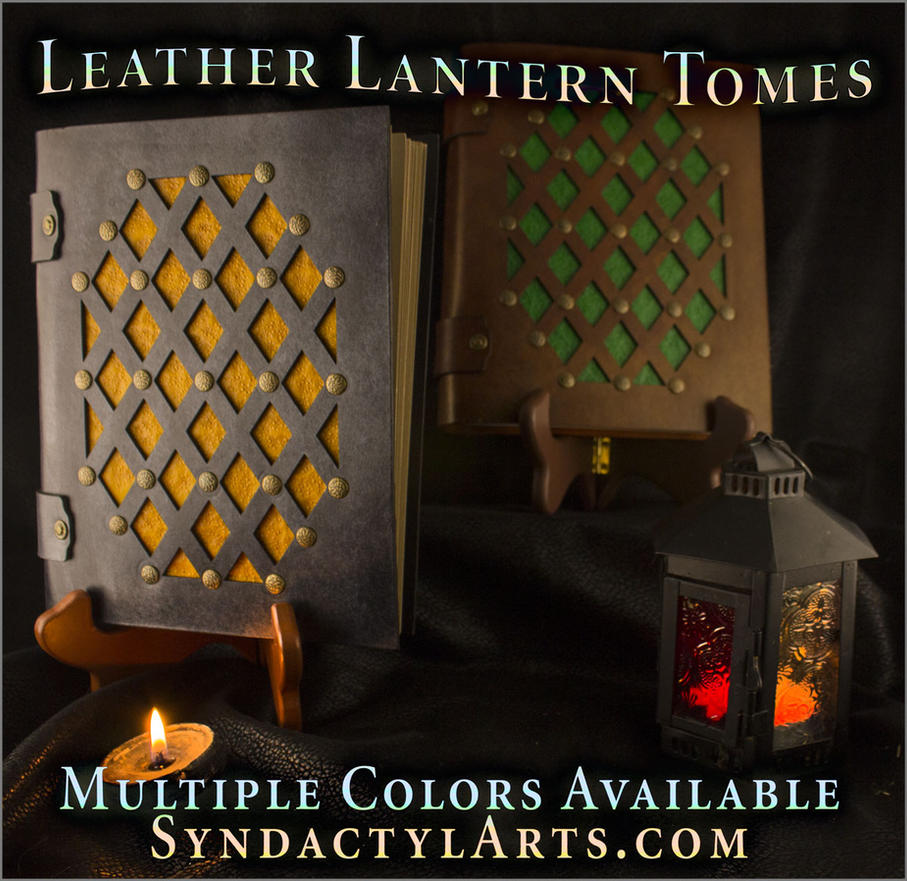 Leather Lantern Tomes by ChaoseVIIn