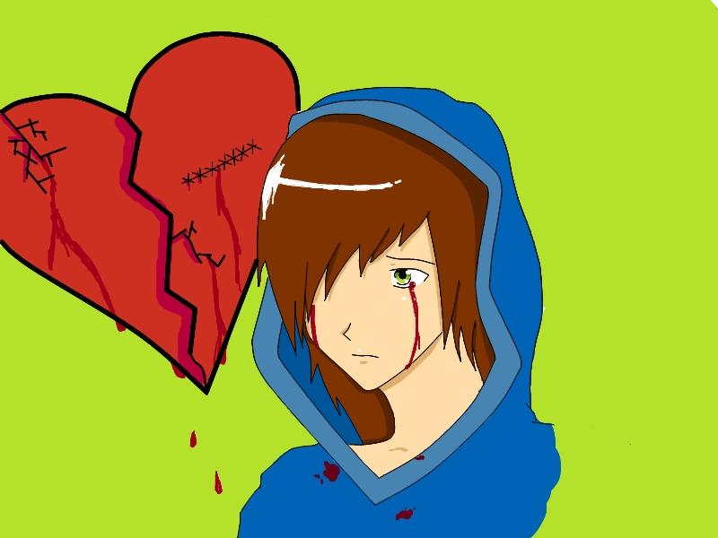 heart broken girl anime. Broken hearts suck.