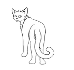 F2U Thunderclan Warrior Cat Lineart