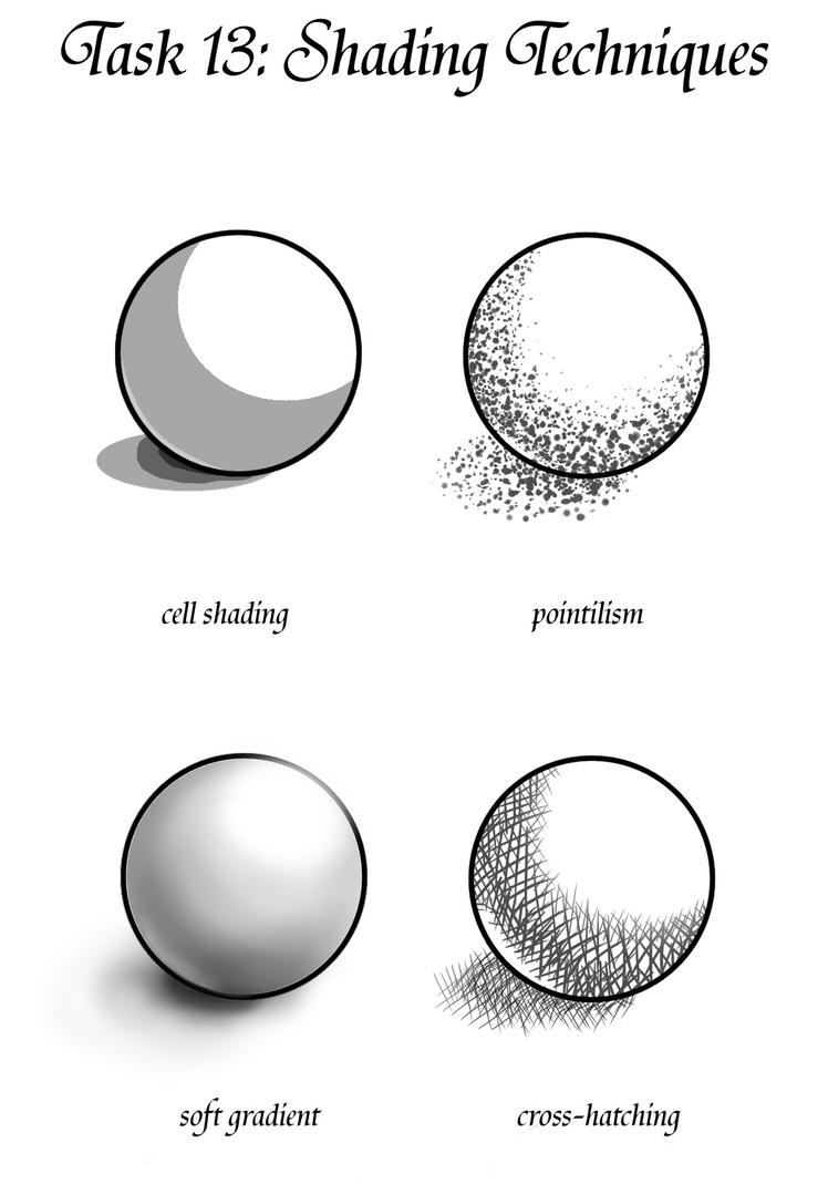 Value Definition In Art : Gm task shading techniques by teacup creations on