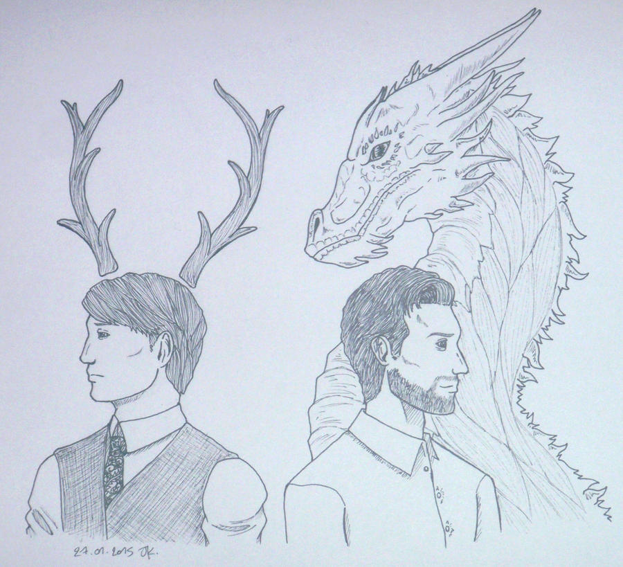 The Wendigo and the Red Dragon by Calamity-Death