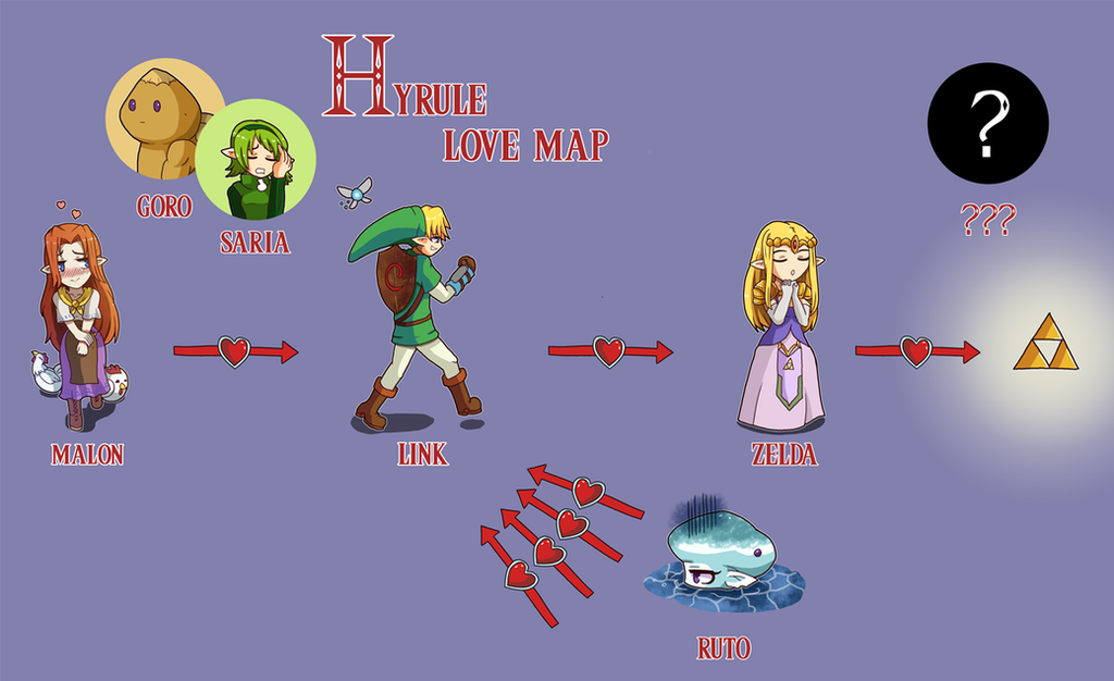 Hyrule, love map by Alulle