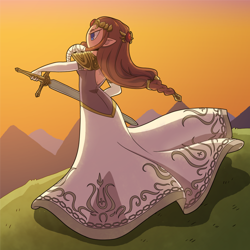 Princess Zelda by Alulle