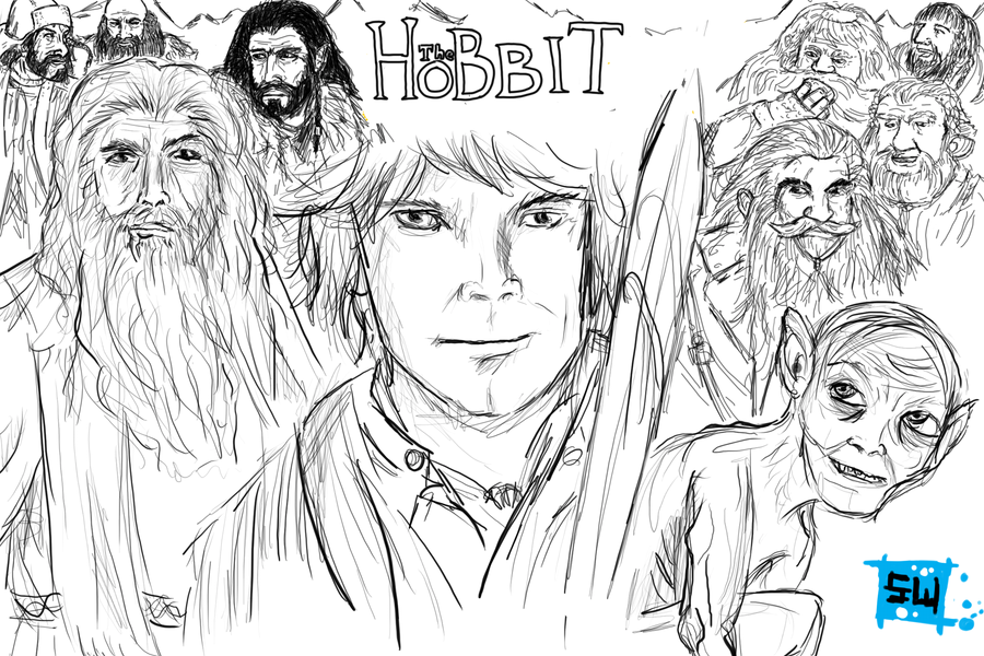 the hobbit coloring pages - thorin the dwarf in the book the hobbit free coloring pages